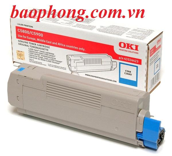Mực In Laser Màu Oki C5800 Cyan dùng cho máy in OKI C5800N/C5900N