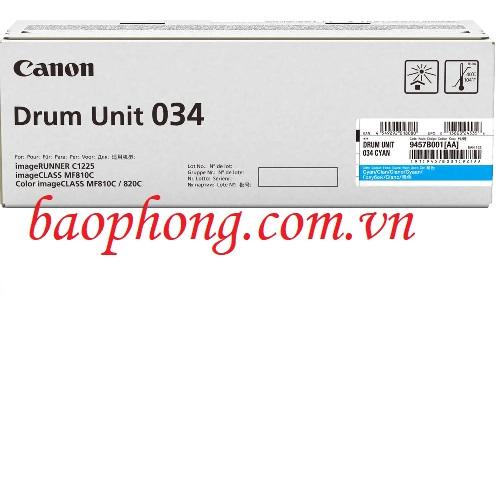 Cụm trống Canon 034 Cyan dùng cho máy in Canon MF810C/820C