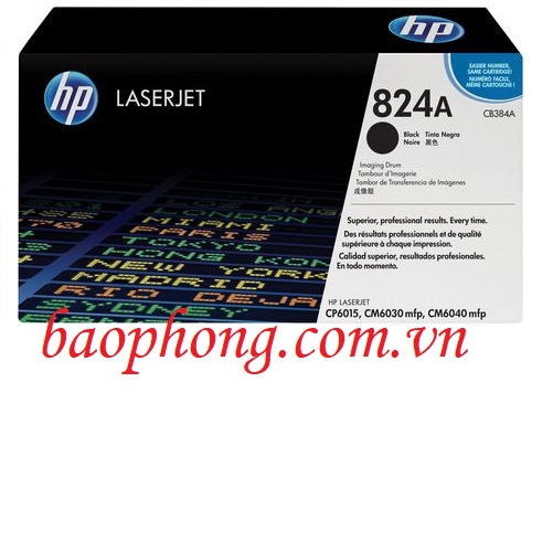 Cụm trống HP 824A Black (CE384A) dùng cho máy in HP CP6015/CM6030MFP/CM6040MFP