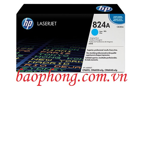 Cụm trống HP 824A Cyan (CE385A) dùng cho máy in HP CP6015/CM6030MFP/CM6040MFP