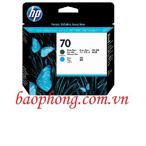 Đầu in HP 70 Mate Black and Cyan dùng cho máy in HP Z3100/3200/2100