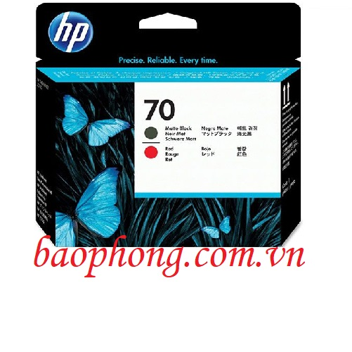 Đầu in HP 70 Mate Black and Red dùng cho máy in HP Z3100/3200/2100