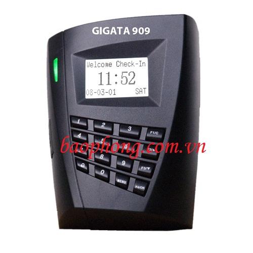 Máy chấm công + kiểm soát cửa ra vào thẻ cảm ứng Gigata 909