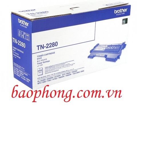 Mực in Brother TN-2280 dùng cho máy in HL-2240D/2250D/DCP-7060D/MFC-7360D