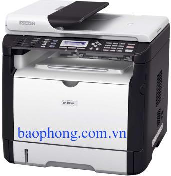 Máy in Ricoh Laser đen trắng đa chức năng SP 310SFN (In mạng A4, Scan, Fax)